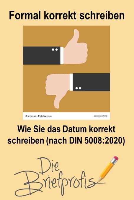 Datum korrekt schreiben nach DIN 5008:2020