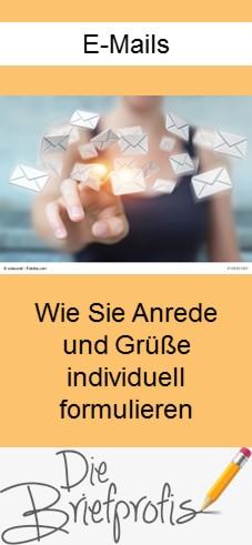 Anrede und Grußformeln in E-Mails individuell formulieren