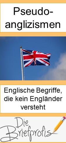 Pseudoanglizismus - ein Begriff, der englisch klingt, den aber kein Engländer versteht