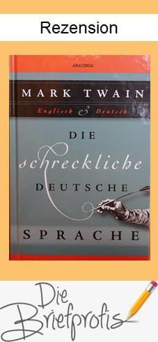 Rezension Die schreckliche deutsche Sprache von Mark Twain - Pin