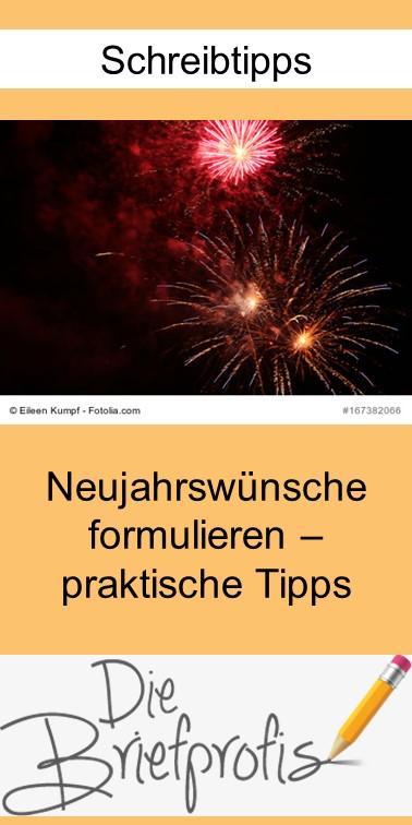 Tipps zur Formulierung Ihrer Neujahrswünsche - Pin