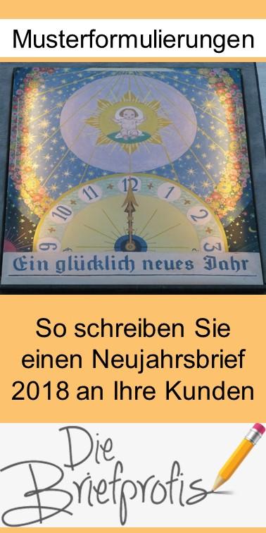 Mustertext für einen Neujahrsbrief 2018 - Pin