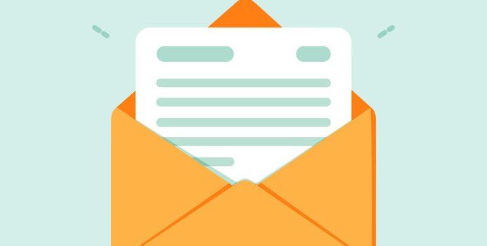 Korrespondenz - offener Briefumschlag