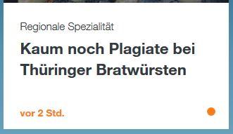 Plagiate - Thüringer Bratwurst