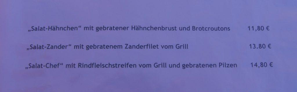 Der Chef im Salat - Beispiel für originelle Speisekarten